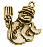 Snowman - Golden Charm (Pack of 2)